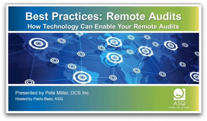 Best Practice Remote Audits