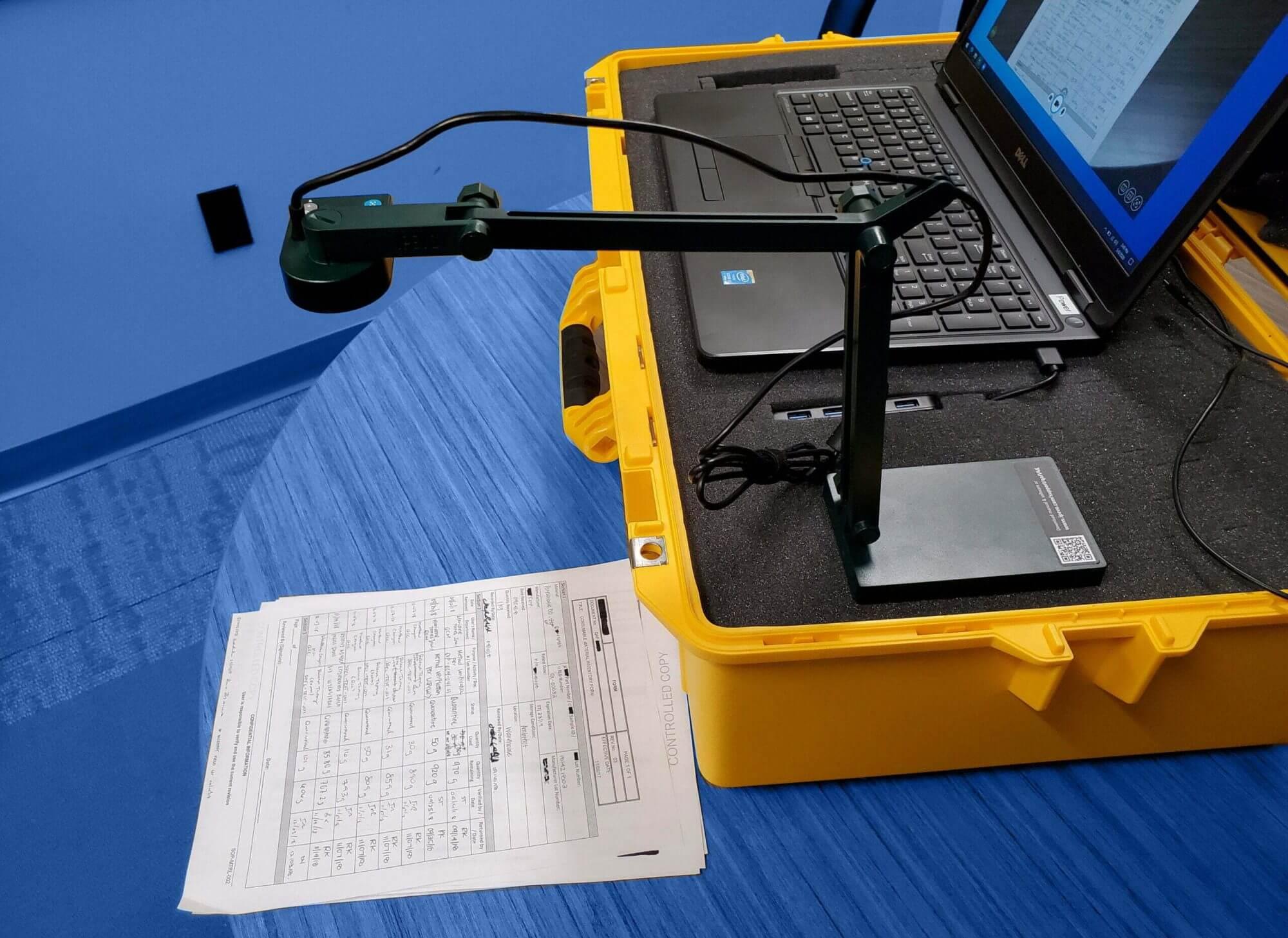 DOC CAM & Laptop for Remote Audit